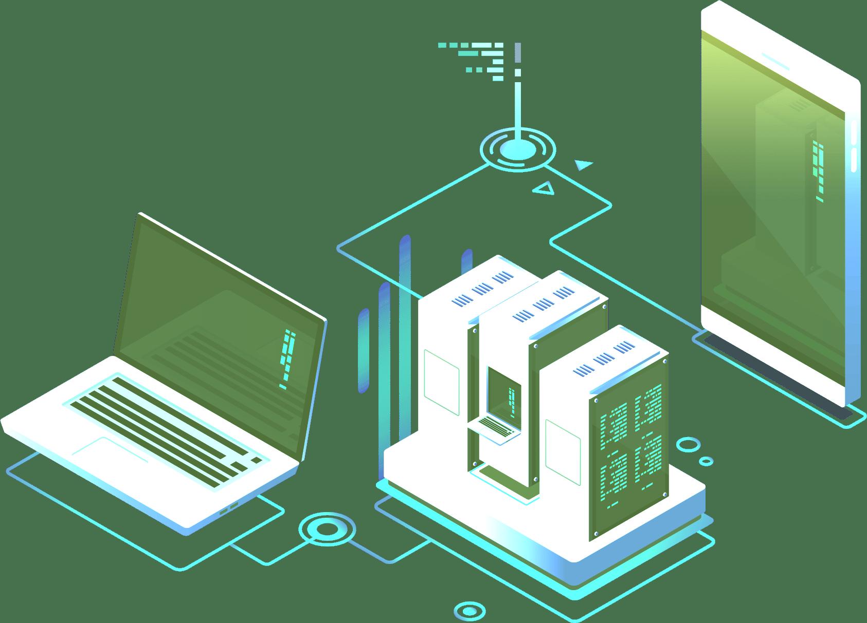 UonCloud Data Center illustration